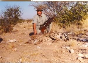 Gepard, odstreljen kalibrom 8x68